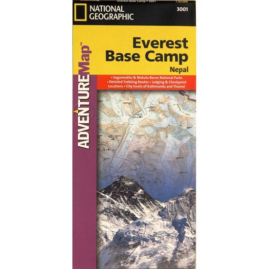 Ed. National Geographic Map Everest Base Camp 1:50000 -