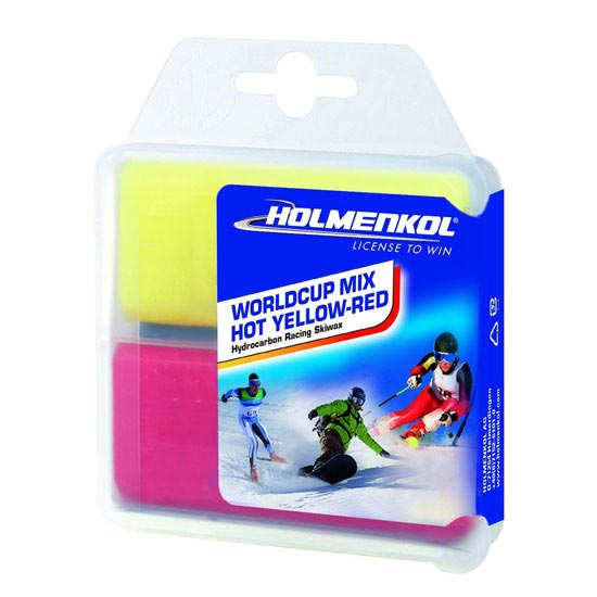 Holmenkol Worldcup Hot Yellow-Red 2x35 -