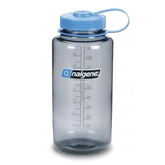 Nalgene Wide Mouth Bottle - Blue/Black Lip - 1 L