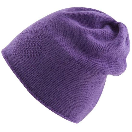 Black Diamond Knit Icon Beanie - Heliotrope