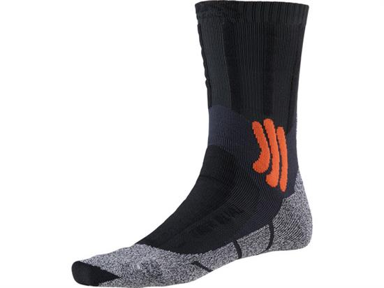 Xsocks Trek Dual - Granite Grey/Bonfire Orange
