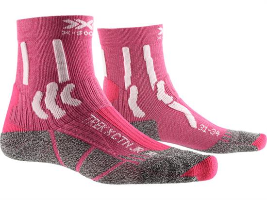 Xsocks Trek X Ctn Jr Flamingo Pink/arctic White - P041