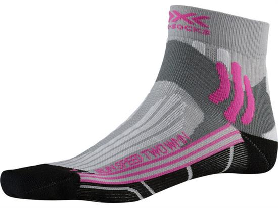 Xsocks Run Speed Two W - Pearl Grey /Opal Black