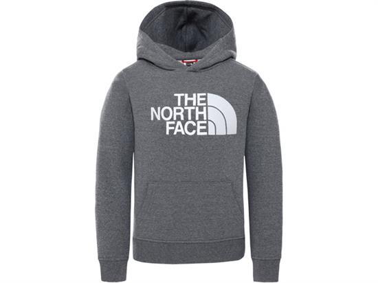The North Face Drew Peak Po Hoodie Youth - Tnf Medium Grey He