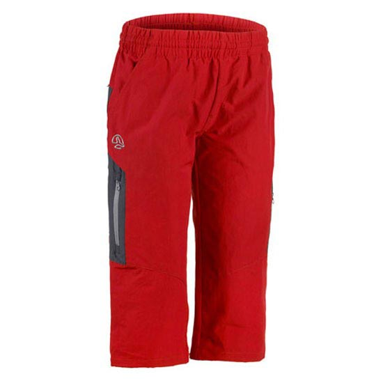 Ternua Duich 3/4 Pant Jr - Red/Whales Grey