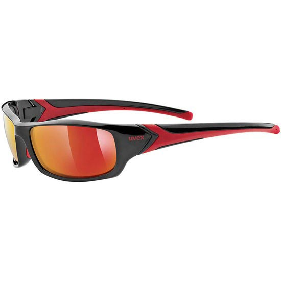 Uvex Sportstyle 211 Black Red Mirror Red S3 -