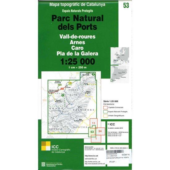 Icc (catalunya) Espais Naturals P.N. Ports 1.25.000 - Detail Foto
