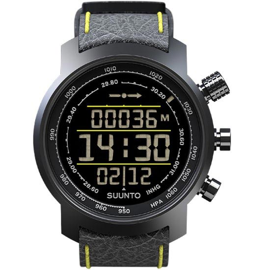 Suunto Elementum Terra - Black/Yellow Leather