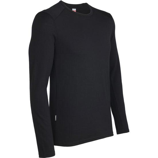Icebreaker Tech LS Crewe 260 - Black