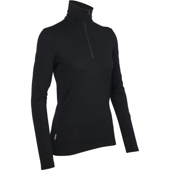 Icebreaker Tech LS Half Zip 260 W - Black