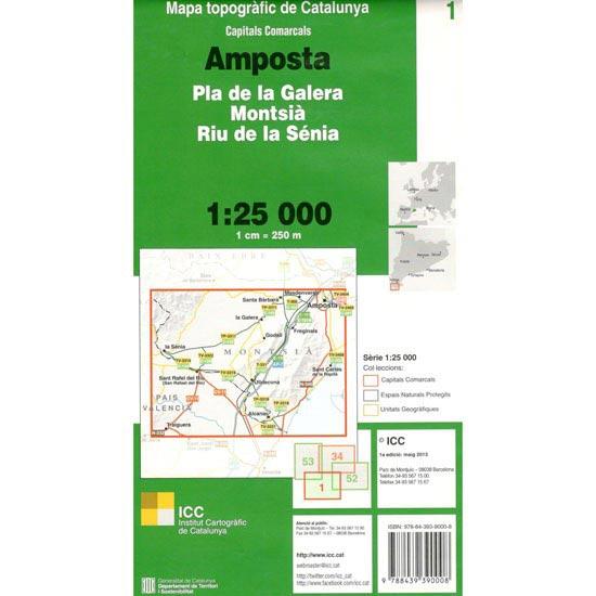 Icc (catalunya) Mapa Amposta - Montsia 1:25000 -