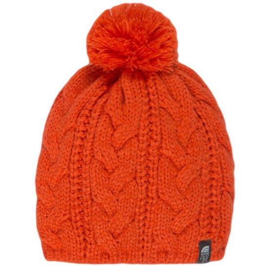 The North Face Bigsby Pom Pom Beanie - Spicy Orange