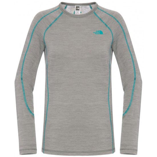 The North Face Warm Merino L/S Crew Neck W - Pache Grey Heather