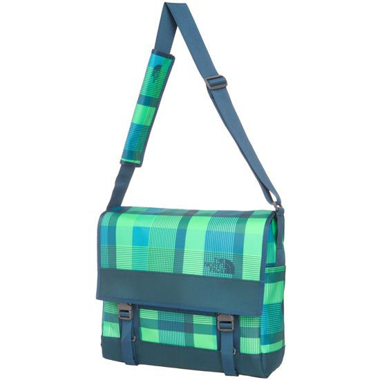 The North Face Base Camp Messenger Bag - M - Krypton Green Plaid