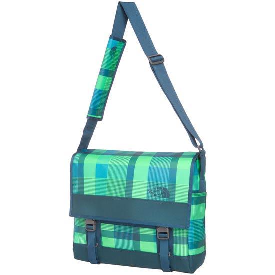 The North Face Base Camp Messenger Bag - M - Krypton Green Plaid