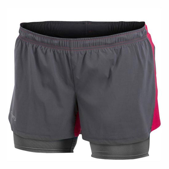 Craft Run Fast Shorts 2 in 1 W - Granite/Multi