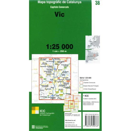 Icc (catalunya) Mapa Vic 1:25000 - Photo of detail