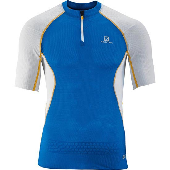 Salomon S-lab S-Lab Exo Zip Tee M - UNION BLUE