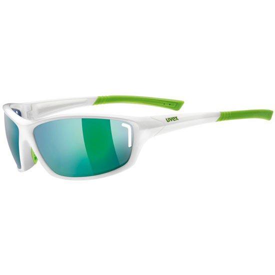 Uvex Sportstyle 210 White Green Mirror Green S3 -