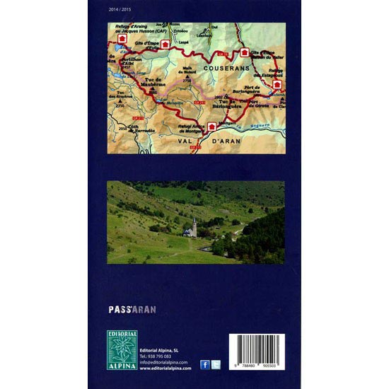 Ed. Alpina Mapa Pass'Aran 1:2500 - Photo of detail
