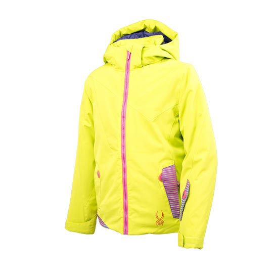 Spyder Glam Jacket Girl - Sharp Lime/Pure Linear Gradient Print/Bryte Bubblegum