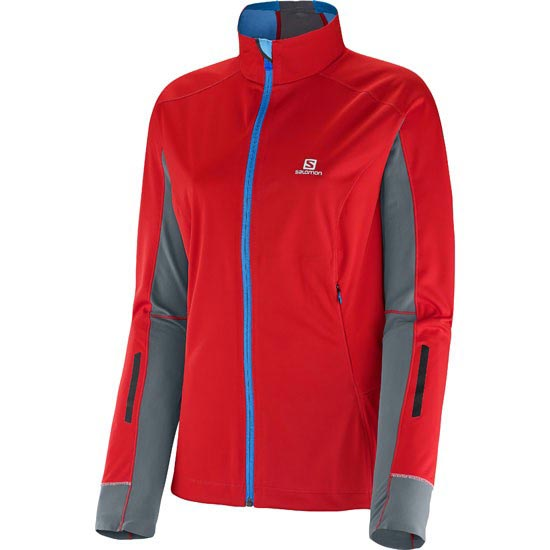 Salomon Equipe Softshell Jacket W - Poppy dark cloud