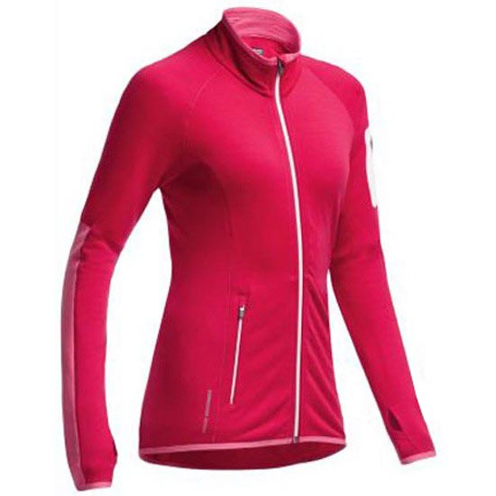 Icebreaker Atom Long Sleeve Zip W - Garnet/Shocking/White