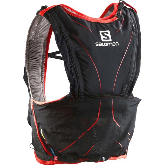 Salomon S-Lab Adv Skin3 12 Set - Aluminium/Black/Red