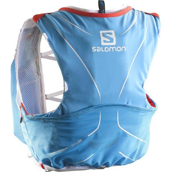 Salomon S-Lab Adv Skin3 12 Set - White/Blue