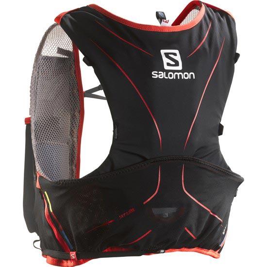 Salomon S-Lab Adv.Skin3 5 Set - Aluminium/Black/RRed