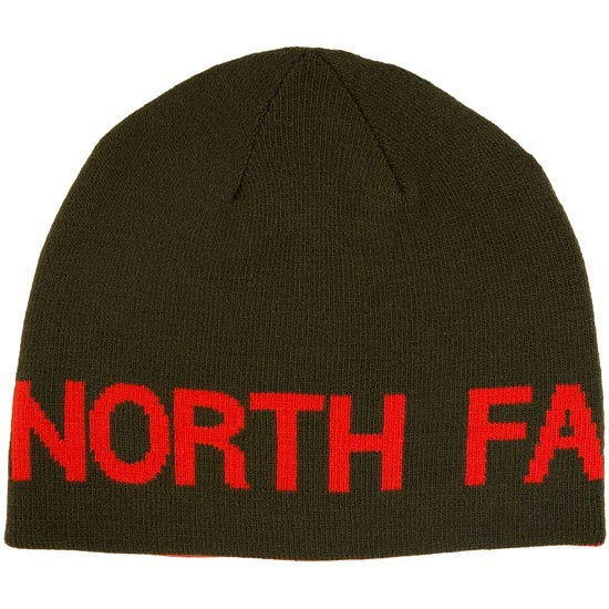 The North Face Reversible TNF Banner Beanie - Forest Night Green/Valencia Orange