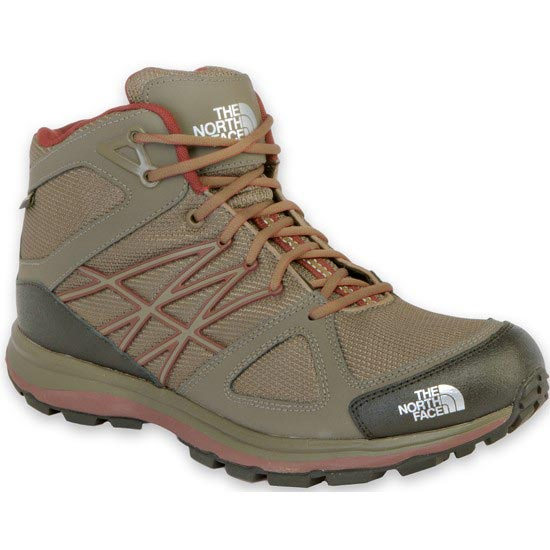 The North Face Litewave Mid GTX - Shroom Brow/Sequoia Red