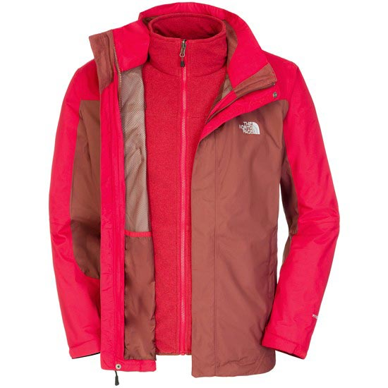 The North Face Zephyr Triclimate Jacket - Cherry Stain Brown/Rage Red