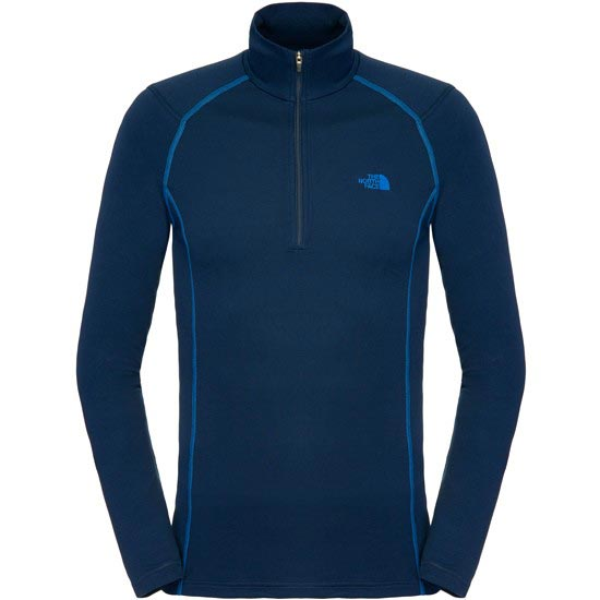 The North Face Warm L/S Zip Neck - Cosmic Blue