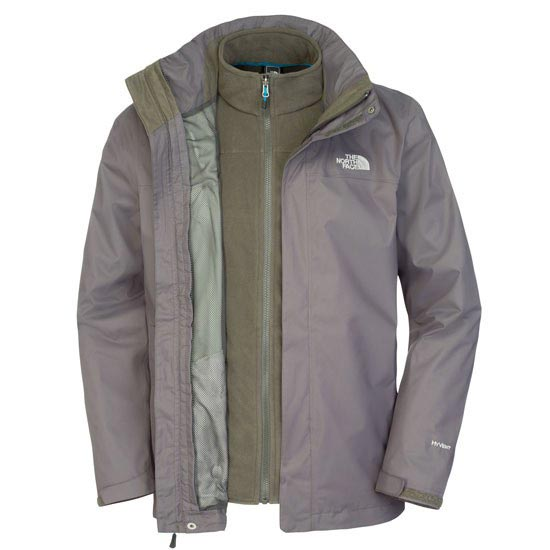 The North Face Evolve II Triclimate Jacket - Black Ink Green