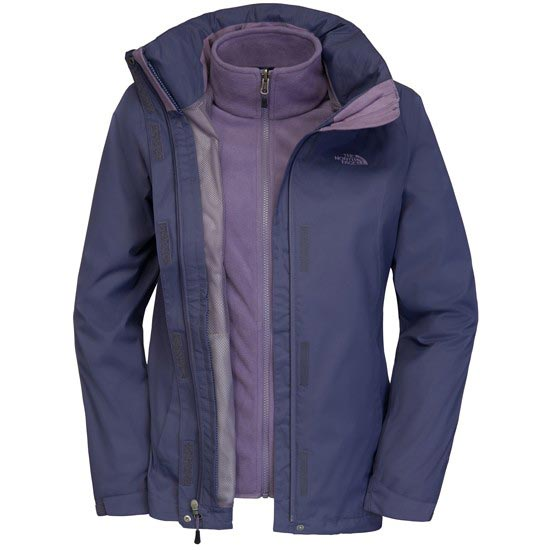 The North Face Evolve II Triclimate Jacket W - Greystone Blue/Purple Sage