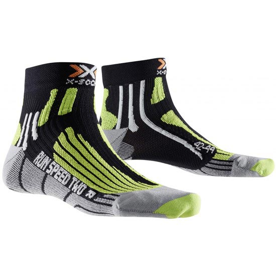 Xsocks Run Speed Two - Black/Green Lime