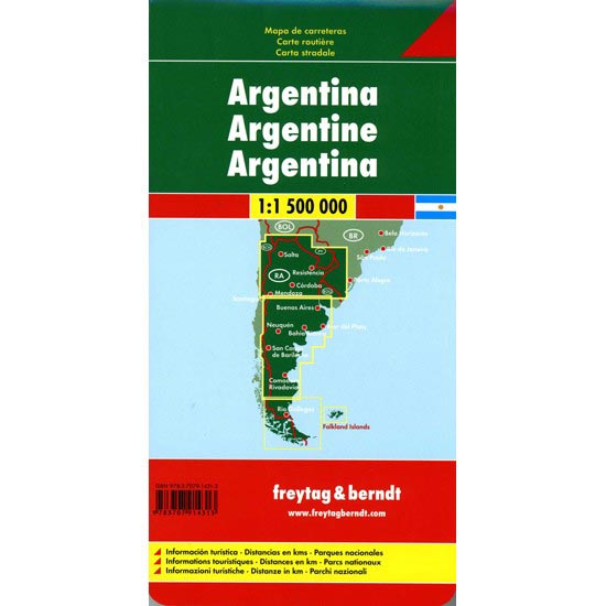 Ed. Freytag & Berndt Mapa Argentina 1:1500000 - Photo of detail