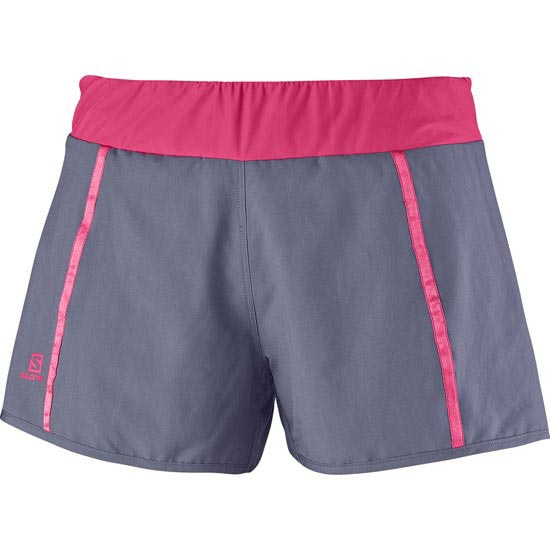 Salomon 1/4 Park 2 in1 Short W - Artist Grey/Hot Pink
