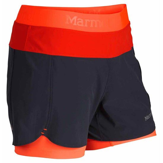 Marmot Pulse Short W - Dark Steel / Bright Orange