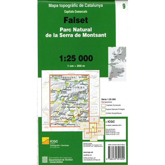 Icc (catalunya) Mapa Falset Montsant 1:25000 - Photo of detail