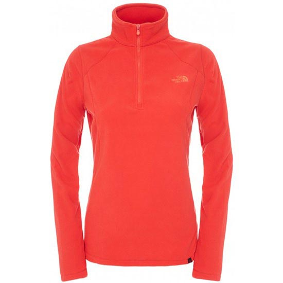 The North Face 100 Glacier 1/4 Zip W - Tomato Red