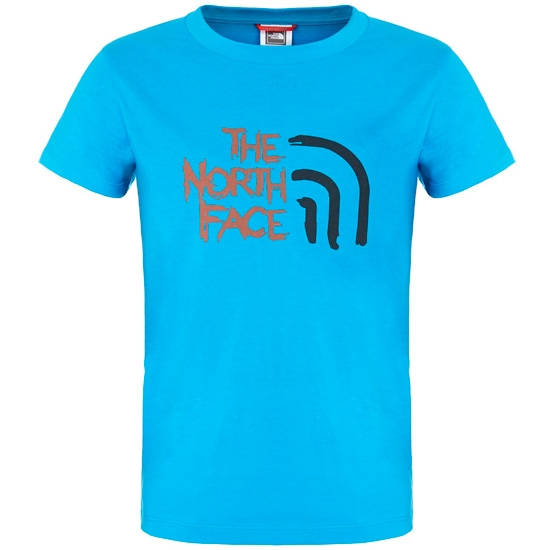 The North Face Cotton Tee Boy - Quill Blue