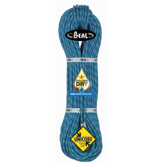 Beal Ice Line 8.1 mm x 60 m GoldenDry + Unicore - Azul