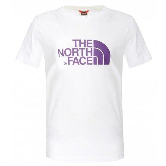 The North Face S/S Easy Tee Y - Tnf White/Iris Purple