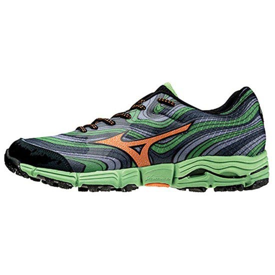 Mizuno Wave Kazan - Dress Blue/Silver/Spectre Yellow