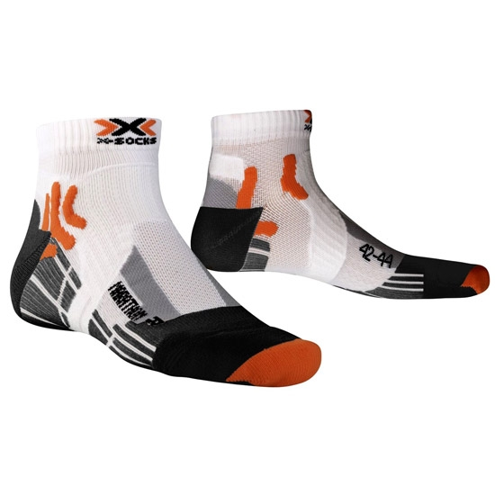 Xsocks Run Marathon - White/Black