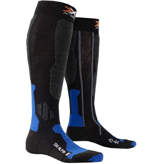 Xsocks Ski Alpin - Black/Cobalt Blue