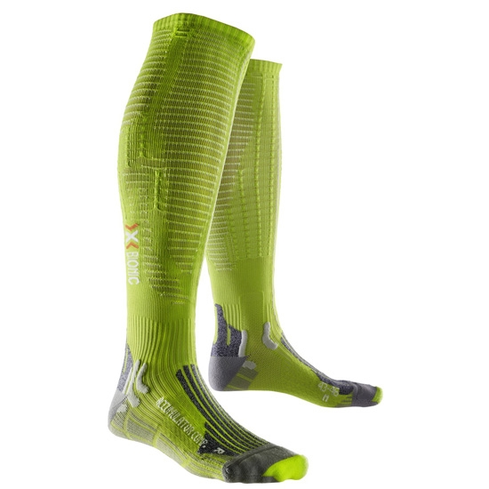 Xsocks Effektor Competition - Green Lime/Pearl Grey