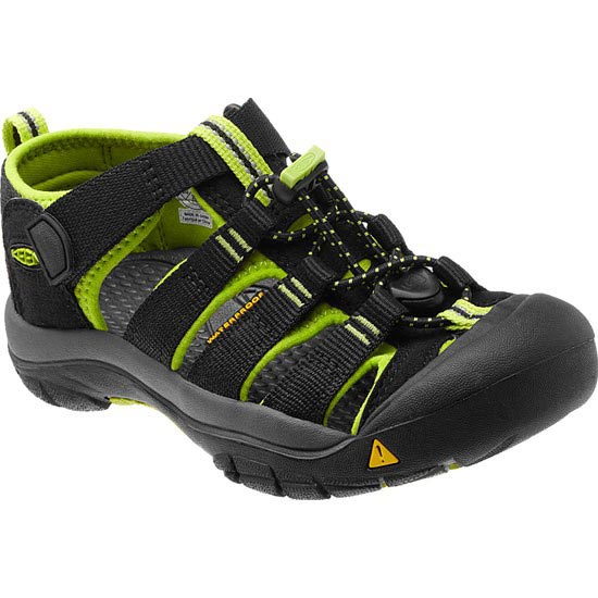 Keen Newport H2 Enfant - Black/Lime Green